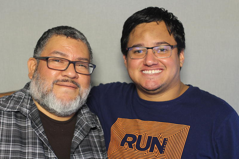 Miguel Morales (left) and Alex Martinez sat down at the StoryCorps MobileBooth to talk about their experiences growing up.