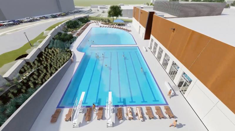 The new Merriam community center will feature both an outdoor and indoor pool.