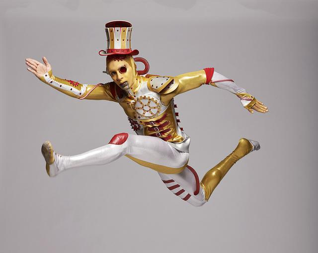 For his role as Tin Man in the Kansas City Ballet's 'The Wizard of Oz,' Lamin Pereira dos Santos moves to choreography by Septime Webre and music by Matthew Pierce.  music by