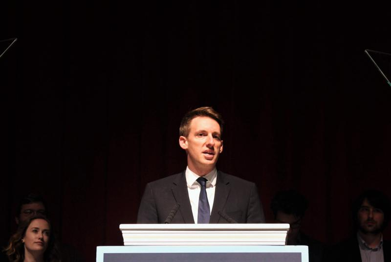 Jason Kander, pictured here during his 2016 Senate race, withdrew from the Kansas City mayoral race on Tuesday, citing a need to focus instead on his own mental health.