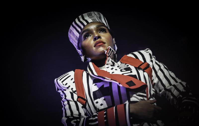 Janelle Monáe performing in Minneapolis. Monáe plays Kansas City's Starlight Theatre this weekend.