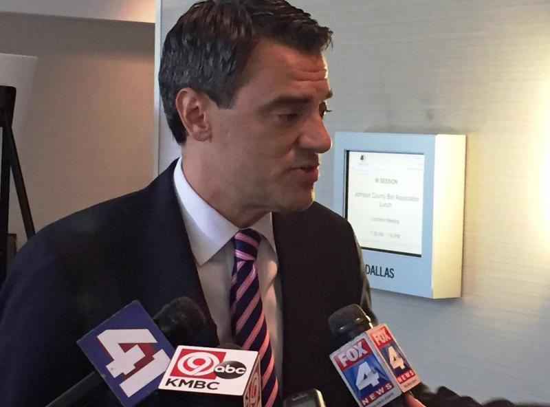"Rep. Kevin Yoder says he is the ""underdog"" in his re-election campaign against Democrat Sharice Davids. He appeared Wednesday before the Johnson County Bar Association."