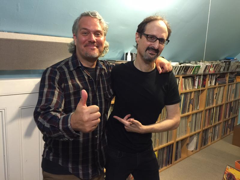 Former Molly McGuire front-man Jason Blackmore (left) interviewed Tom Lyle of Government Issue for his 'Records Collecting Dust' documentary series.