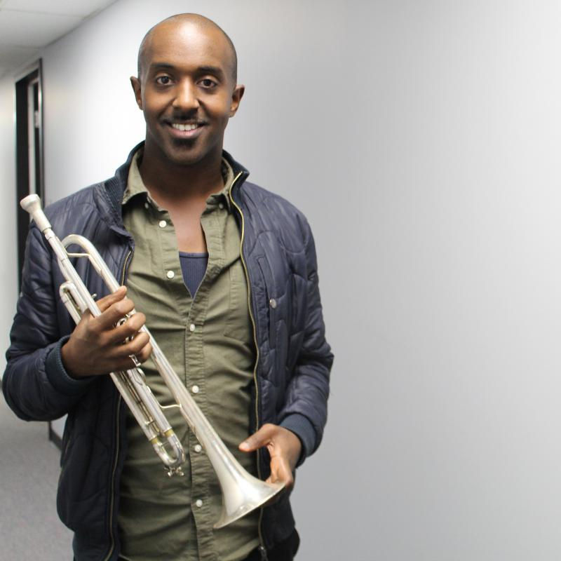 Trumpet player Hermon Mehari returns to Kansas City to perform as part of Open Spaces' The Weekend at Starlight Theatre.
