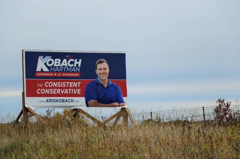 Kris Kobach's campaign is eager to remind voters that he's conservative.