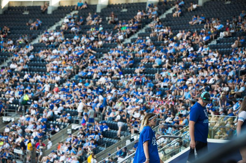 The scene at a Royals game in 2018.