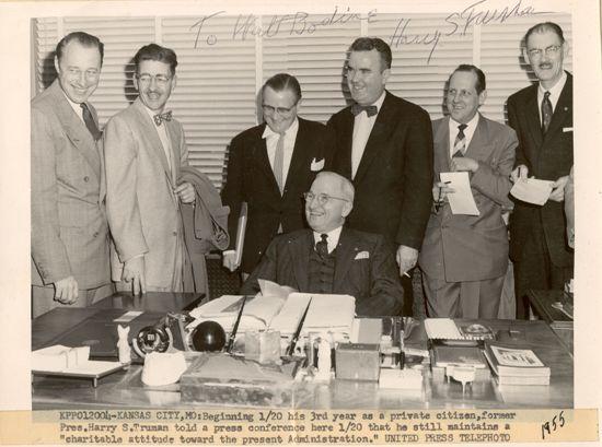 Walt with Truman.