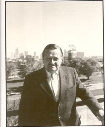 Walt at Crown Center overlooking Kansas City