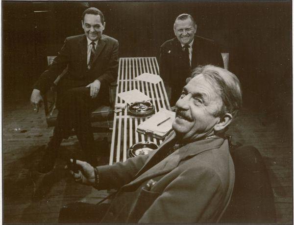 Walt with co-host Bill Leeds and Thomas Hart Benton.