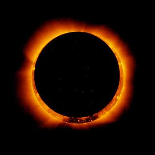 "The ""ring of fire"" of an annular eclipse."