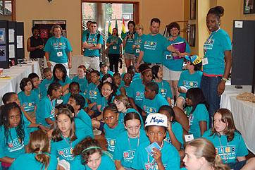 Students from the Exxon Mobile Bernard Harris Summer Camp