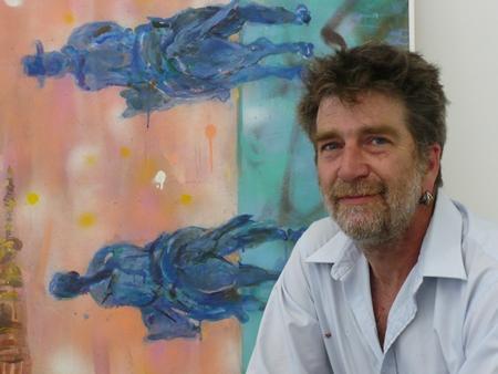 Artist David Ford at the Dolphin Gallery, Kansas City, Mo.