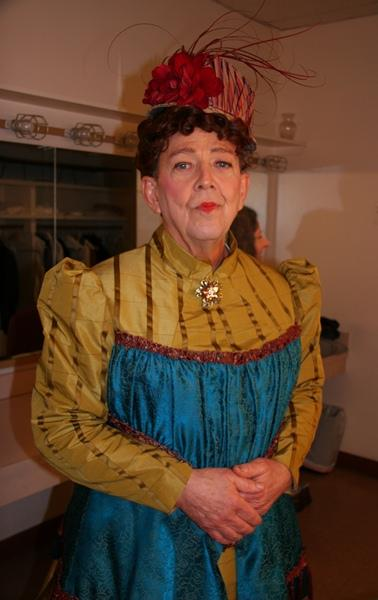 Korinke armed and ready as Lady Bracknell.