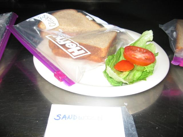 "A prop sandwich backstage for ""Bus Stop"""
