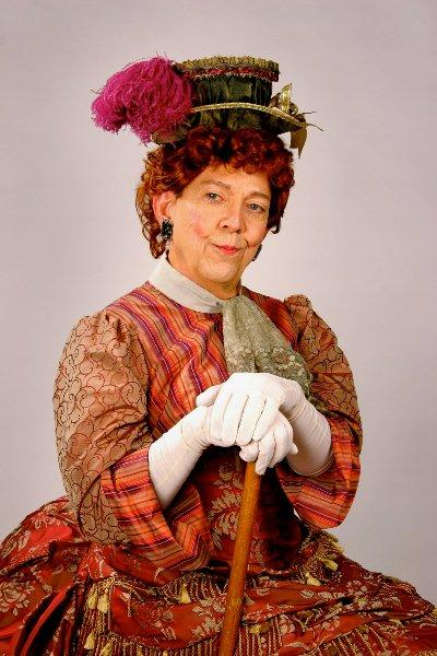 "Actor Jim Korinke as Lady Bracknell in ""The Importance of Being Earnest."""
