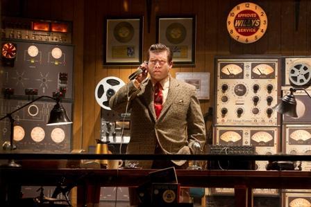 Christopher Ryan Grant as Sam Phillips in The National Tour of Million Dollar Quartet