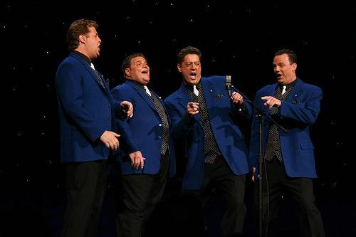 "Max Q barbershop quartet, performing at the Heart of America Barbershop Chorus ""Smile! darn 'ya, Smile!"" performances on April 14 at Yardley Hall."