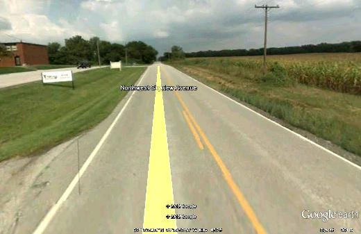 Scene of  fatal  crash from which stems the first Platte Co, MO. charge of texting while  driving