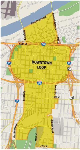 Kansas City's proposed streetcar transit district