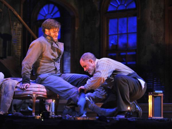 "Kyle Hatley and Michael Genet in ""The Whipping Man"", on stage at the Kansas City Repertory Theatre through April 8, 2012"