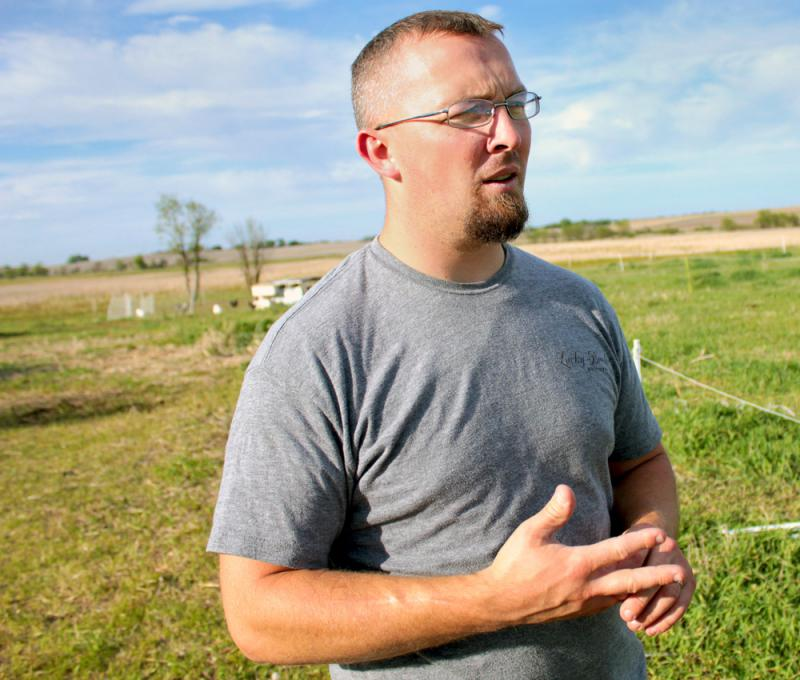 Farmer William Powers directs USDA's Sustainable Agriculture Research and Education program outpost in Nebraska.