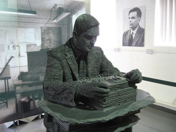 Alan Turing, sculpted by Stephen Kettle