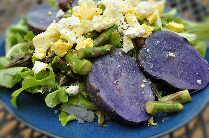 Asparagus and Potato Salad with Mint and Lemon Dressing