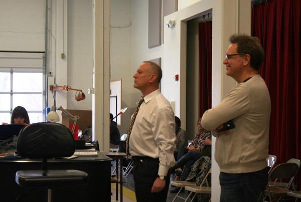 Scenes from a rehearsal: Artistic Directors Bill Whitener (Kansas City Ballet) and Ward Holmquist (Lyric Opera of Kansas City) observe a recent rehearsal.