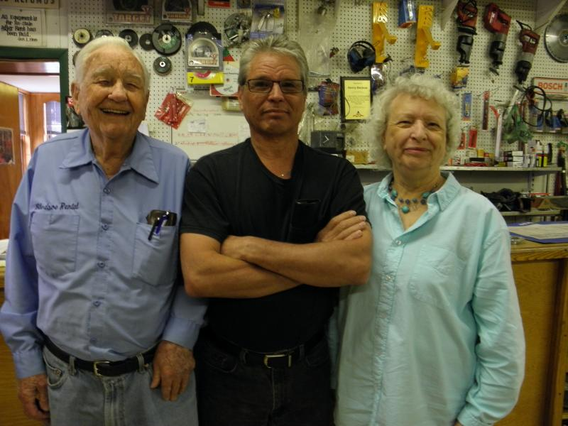 Veteran businessman Kenneth Bledsoe with his wife and son.