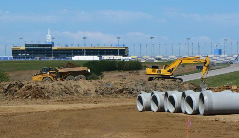 Construction at Cerner's new campus, near Sporting Kansas City's soccer stadium in Kansas City, Ks., began in February.