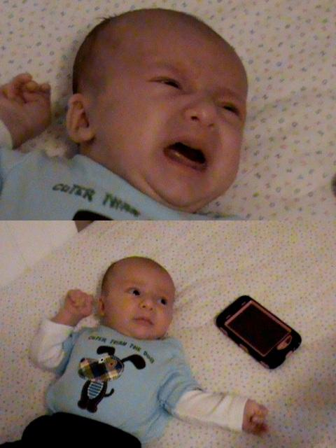 Hamza Husein at 5 weeks - before and after hearing a podcast of Up to Date