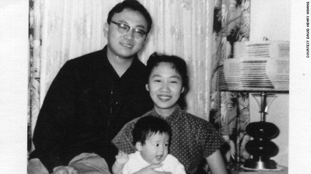 Young David Henry Hwang with his parents