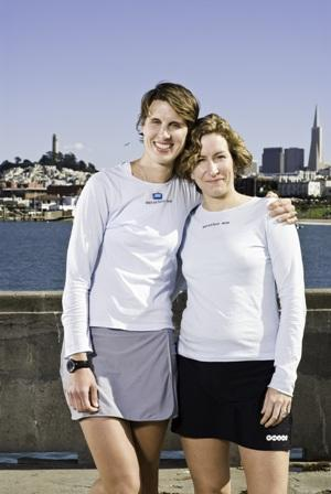 Mothers (and runners) Dimity McDowell and Sarah Bowen Shea