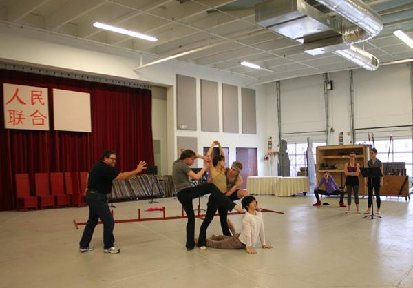 Scenes from a rehearsal: A tableau in the revolutionary ballet.