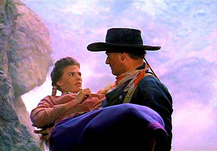"Natalie Wood and John Wayne in ""The Searchers"""