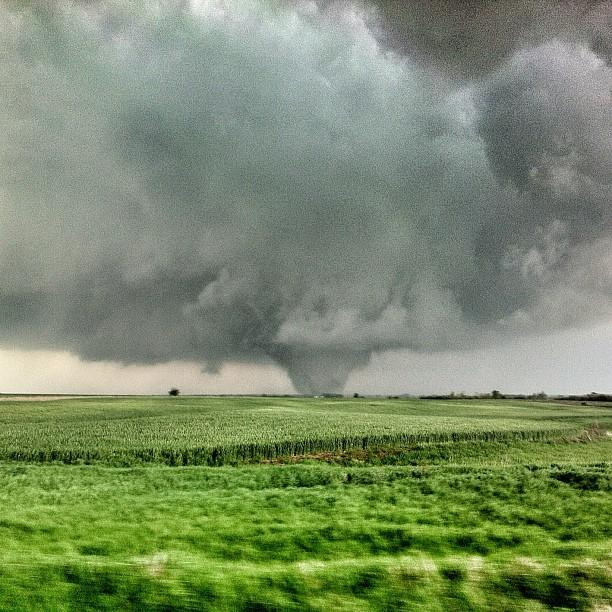 A tornado from a previous season in Crawford, Kan.