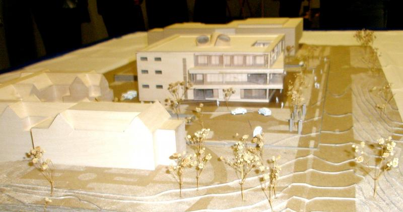 Three dimensional model of UMKC adddition.