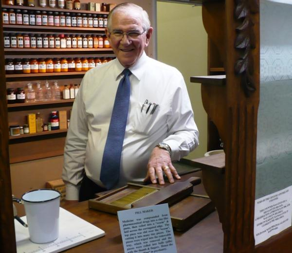 Click above to hear Dr. Hodges describe his pharmacy section.