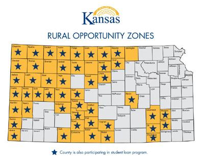 The State of Kansas is offering tax incentives to those settling in one of 50 designated counties, called Rural Opportunity Zones.