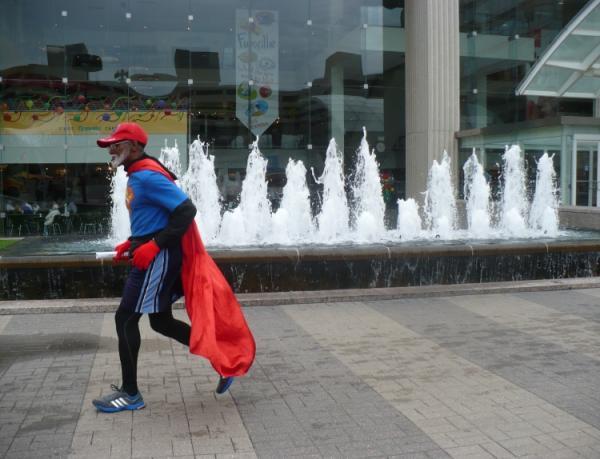 Michael Wheeler runs through Crown Center almost every day.