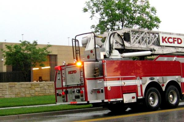 KC Fire Department team searches Federal Reserve Bank for suspected health hazard.