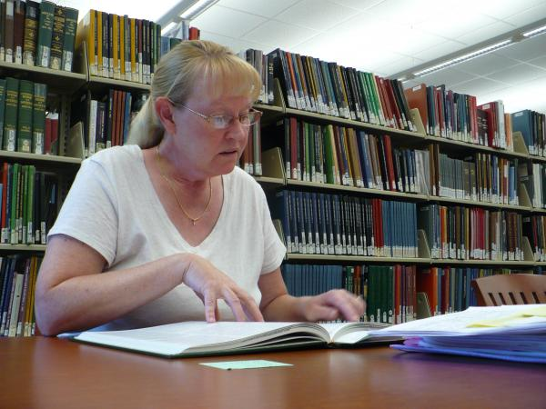 Kari Barger used online resources for seven months before visiting the Midwest Genealogy Center.
