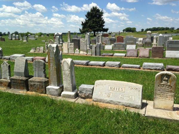 Many headstones and markers were recovered after the floods, but the caskets and bodies were never located.