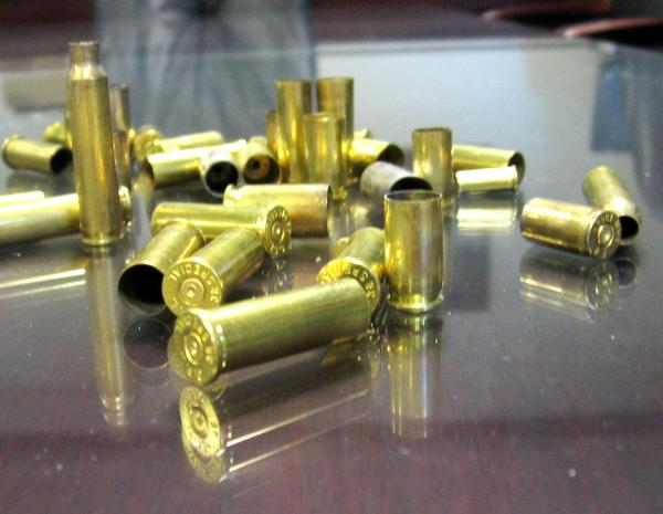 Confiscated  handgun ammunition at K.C. Police Headquarters in July 2013.