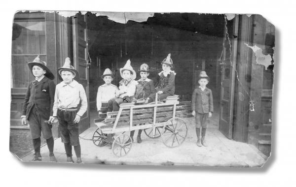 The KCFD would employ watchboys to look for smoke and sparks. Circa 1898.