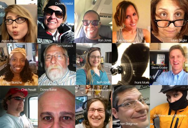 KCUR staffers, in all their selfie glory.