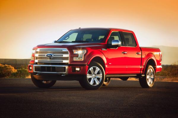 Beginning with its 2015 model, the F-150 pickup truck will be made mostly from aluminum, Ford announced Monday.
