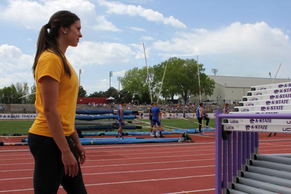 College athletes like Jenny Pinkston, a former track standout at Olathe East High School and currently a heptathlete at Wichita State University, are barred by NCAA rules from profiting off of their own image or likeness.