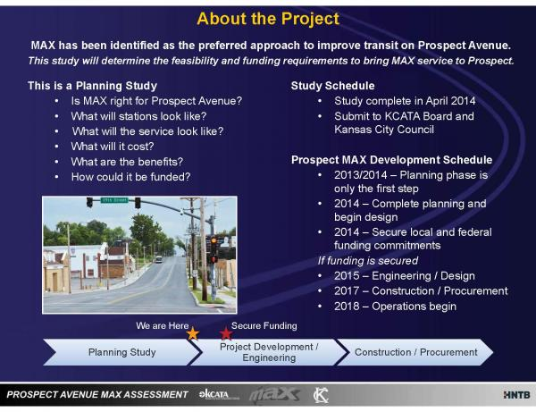 Educational material distributed by the Kansas City Area Transportation Authority outlines the plans for the new MAX line.