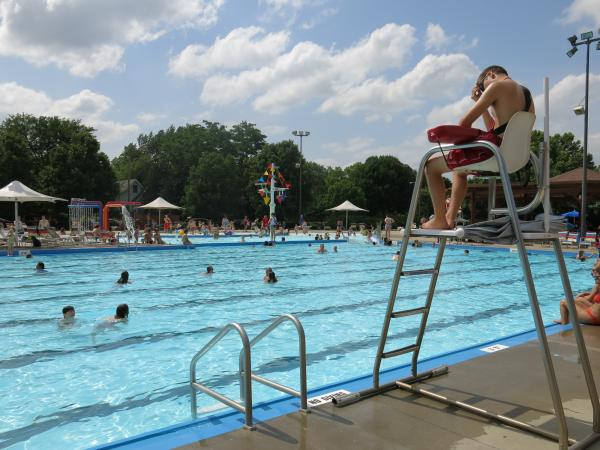 It is getting harder for pools, like this one in Lawrence, Kan., to recruit teens into lifeguarding.